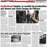 """""""Seppia, la société de production qui donne une autre image de l'Alsace""""L'Alsace03 avril 2013"""