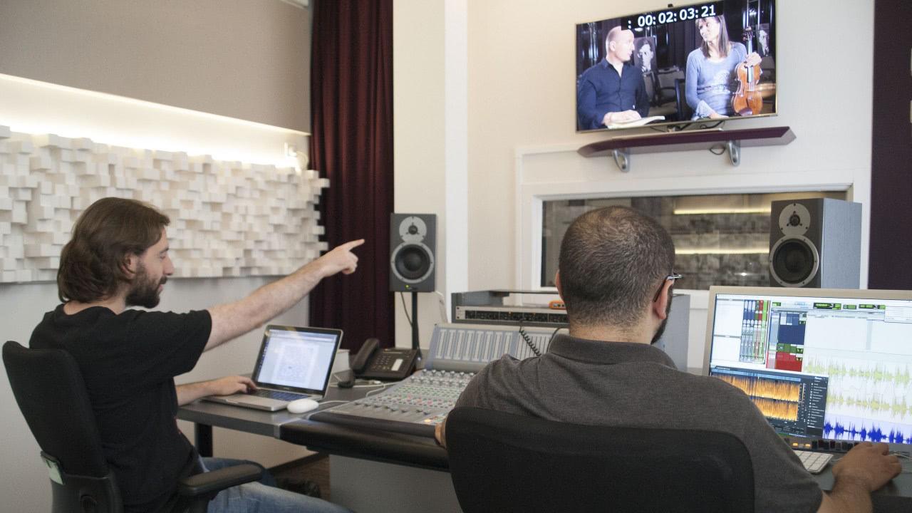 Mixage audio, auditorium Lamey
